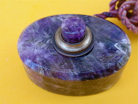 Amethyst Bell Servant Hotel desk call button antique