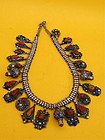 Berber Tribe Dowery Necklace enamel silver coral beads