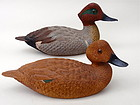 Duck Decoys Pair Green wing teal signed Dan Heinman