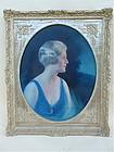 Charles Ward Traver Oil Portrait beautiful woman
