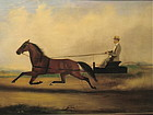 Trotter Horse gentleman and wagon Van Zandt 1872