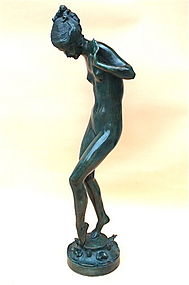 "Harriet Frishmuth bronze fountain ""Playdays"" 1925"
