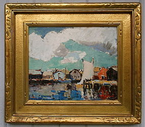 Thomas L. Hunt Impressionist Gloucester Harbor