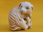 Japanese antique Ivory Netsuke of a lamb signed Yu So