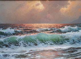 Alexander Dzigurski California Impressionist seascape