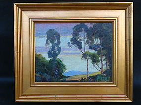 Carl Oscar Borg Impressionist landscape oil