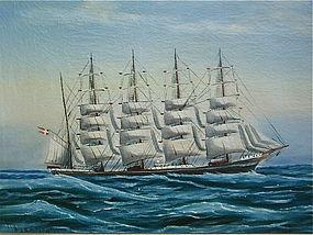Maritime art Sailing Ship Portrait Copenhagen