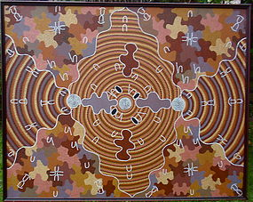 Aboriginal Dream Painting Nancy Campbell Napanangka