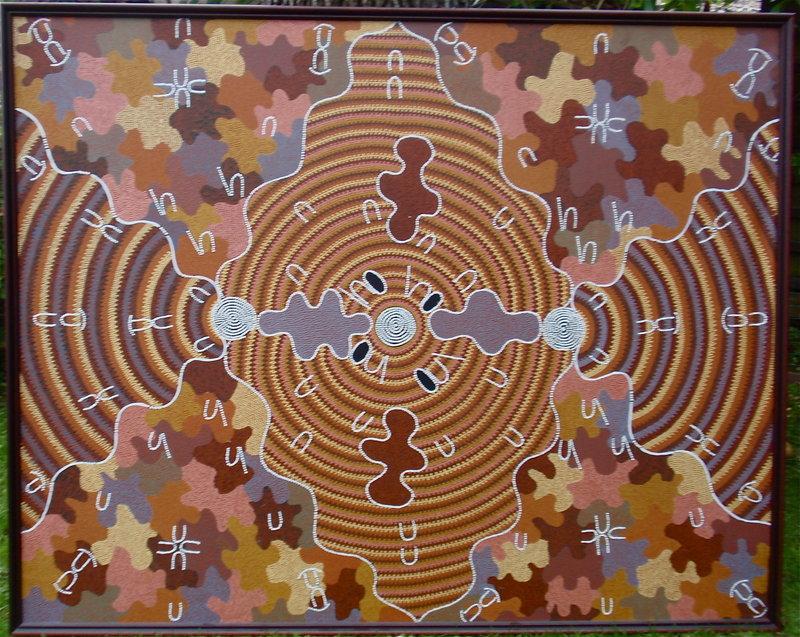 Aboriginal Dream Painting Nancy Campbell Napanangka