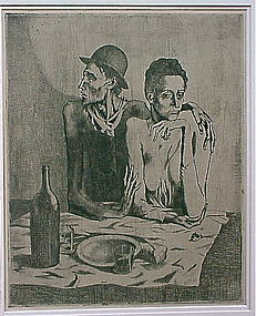 Pablo Picasso The frugal repast etching c. 1913