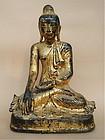 Antique bronze Buddha Burma Mandalay 17th cent