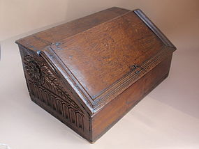 English Tudor Bible box carved oak c.1508 provenance