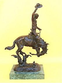 Carl Kauba western art bronze Bronco buster