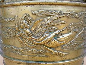 Chinese Gilt Bronze censer planter
