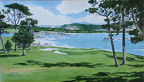 Pebble Beach Golf Course Painting James March Phillips