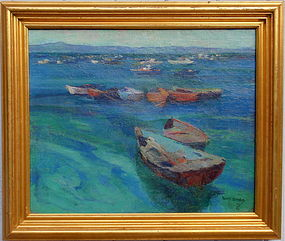 Monterey Boats Francis Todhunter California art