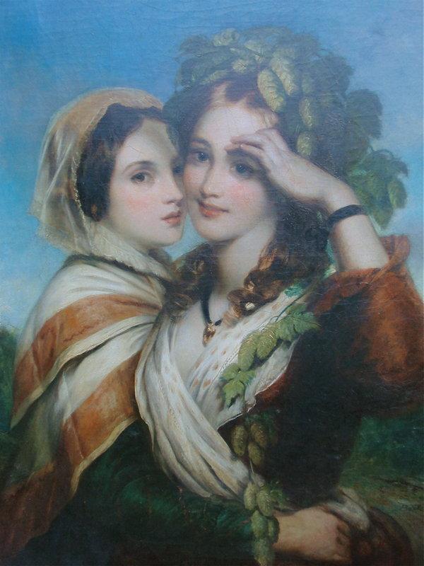 Charles Baxter Portrait two beautiful women 1866