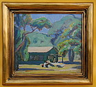 Clark Hobart California Impressionist landscape