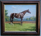 Portrait of a Thoroughbred Horse Thad Leland
