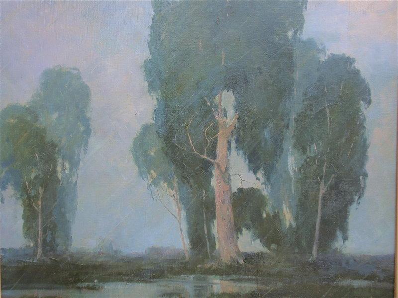 Etta Near California Impressionist Eucalyptus painting