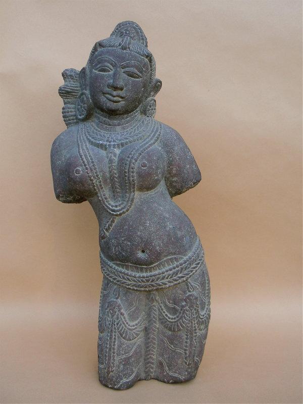 Indian Stone Statue female deity Hindu art