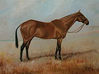 Portrait of Portlaw Race horse G. Crosley Oil