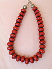 Antique natural coral bead Tibetan tribal Necklace