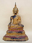 Antique Gilt Bronze Buddha Thailand