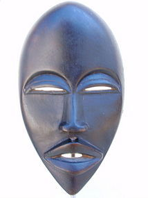Dan Mask west Africa tribal art carved wood