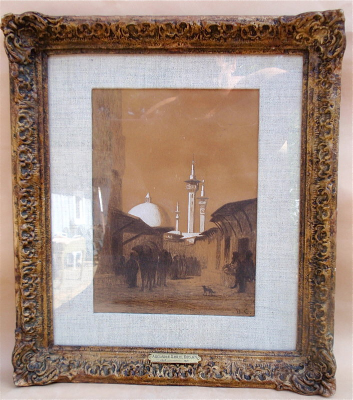 Alexandre Gabriel Decamps orientalist drawing