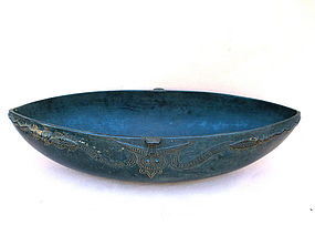 New Guinea Feast Bowl oceanic carved wood art