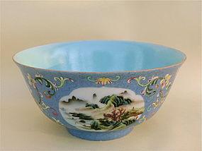 Chinese Porcelain Bowl Qianlong Mark exquisite