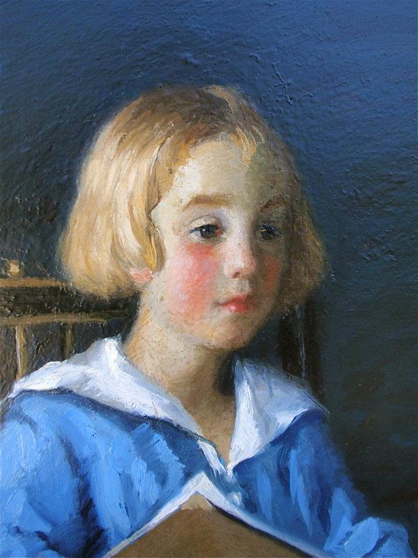 Theodore Van Soelen Portrait girl Taos 1918