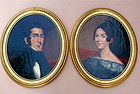 Early American Portraits Man Woman c.1840