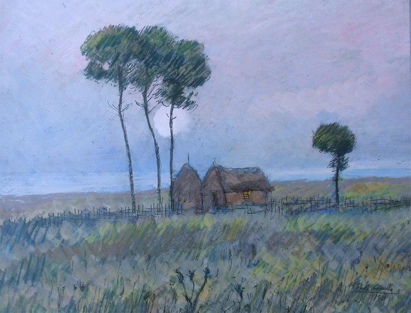 Michele Cascella landscape painting Italian art