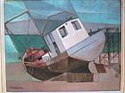 Dennis H. Osborne trawler cubist modernist painting