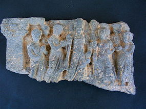 Gandharan Buddha & Bodhisattva stone carving