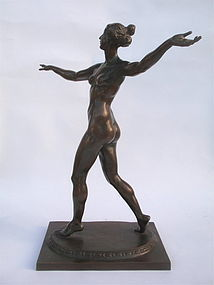 Bronze Figural Nude Female by Sachsenhausen