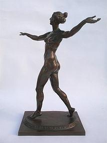Bronze Figural Nude Female by Sachsenhausen