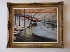 Fred Wagner Winter scene Landscape