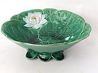 Majolica Water lily lotus flower bowl by Holdcroft