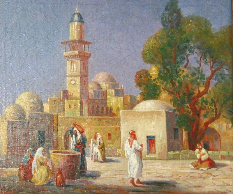 Orientalist View of a Mosque Gustav A. Hensel