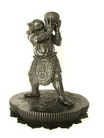 Japanese Bronze Oni Meiji period Asian Art