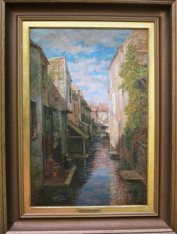 Venice Canal Oil painting by R. W. Van Boskerck NA