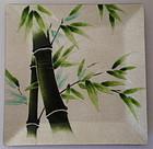 Japanese Enamel tray Bamboo design