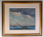 Frederick Wagner Old Shipwreck American Impressionism