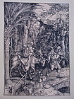 Albrecht Dürer  The Flight into Egypt woodcut c.1504