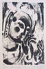 Bodhisattva Figure by Chen Yi Ming lithograph