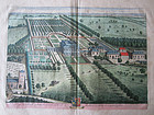 Estate Map Hatley St George by Johannes Kip