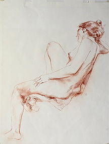 Nude Drawing Reclining Woman R Chatfield